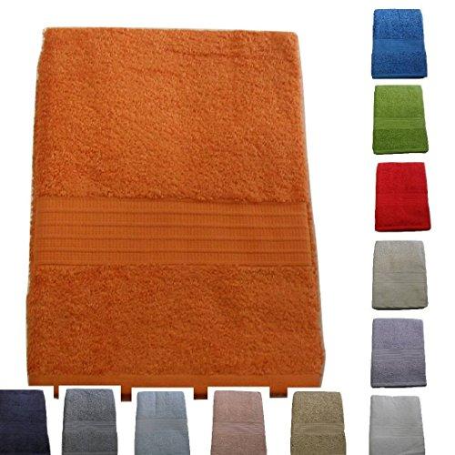 Set coppia 2 pezzi 1+1 ospite 40 x 60 + asciugamano 60 x 110 bassetti time asciugamani 100% spugna di puro cotone pettinato 430 gr/sqm (rosso 1139)