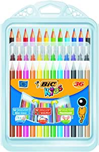 BIC Kids' Colouring in Wallet, Mixed Products - Multi-Coloured, Pack of 36