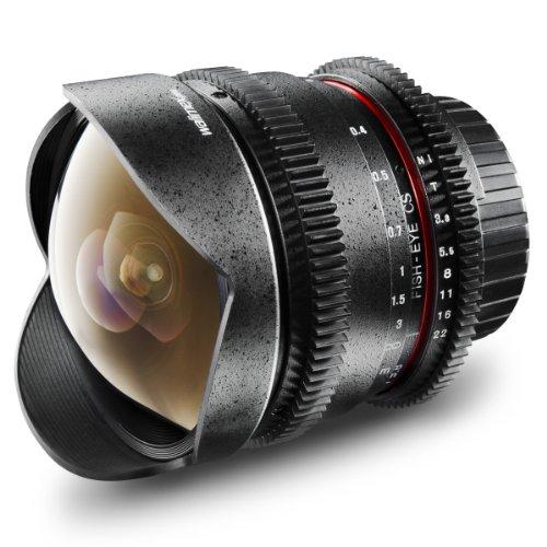 Walimex Pro 8mm 1:3,8 VDSLR Fish-Eye-Objektiv Foto- und Video für MFT Objektivbajonett sc