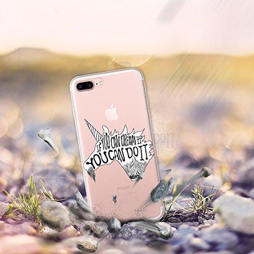 iPhone 7 Plus Hülle, WoowCase® [ Hybrid ] Handyhülle PC + Silikon für [ iPhone 7 Plus ] Französische Bulldogge Tier Mehrfarbige Design Handytasche Handy Cover Case Schutzhülle - Transparent Hybrid Hülle iPhone 7 Plus D0373