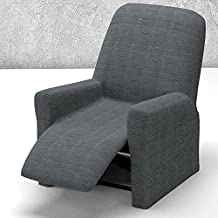 Funda de Sillón Relax Completo Elástica Modelo JAKSON, Color GRIS C/10, Medida 70-100cm