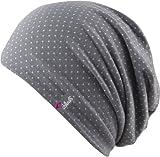 Chillouts Florence Hat / Mütze, FLO02 grey / white gepunktet