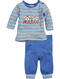 Schnizler 2-Piece Long Sleeve Shirt and Bottoms Dog Striped - Chándal Bebé-Niños