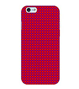Purple Dots Pattern 3D Hard Polycarbonate Designer Back Case Cover for Apple iPhone 6S
