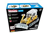 Metal Construction Model Kit,LIEBHERR, Bulldozer with engine sound, 551 parts, Tronico© Germany, including tools, metal mechanical construction, kids metal kits, metal mechanics kits