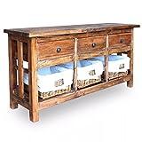 Festnight Holzkommode Sideboard Altholz Massiv 100 x 30 x 50 cm