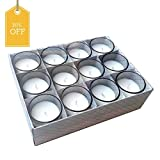 #5: Set of 12 Unscented Glass Candles, All Cotton Lead-Free Wicks, High Quality Wax Blend. Ideal for Weddings, Aromatherapy, Parties, Gardens and Spa