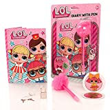 LOL Surprise Lockable Secret Diary & Pom Pom Set – Girls Journal Notebook With Pad Lock