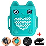 Nigaee Apple Airpods Accessoires for Protection AirPods Apple Case Protective Silicone Etui Airpods [Cute Owl Design][Shock Resistant,Carrying Bag and Hook&Loop Airpods Straps](Teal)