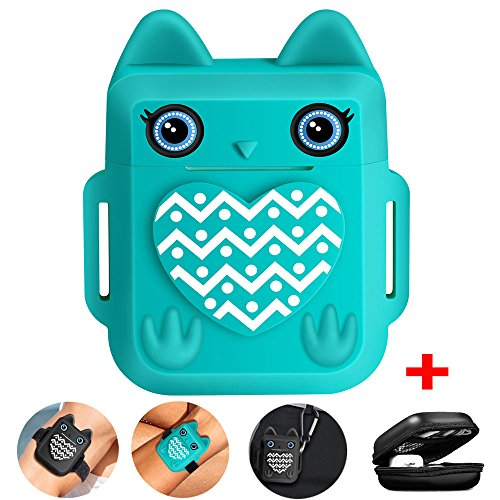 Nigaee Apple Custodia Airpods for Apple AirPods Case Protective Silicone Airpods Cover Airpods iPhone 7 & 8(Teal)