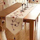 Ethomes Decoración de Hogar Camino de mesa con borlas 40x160cm