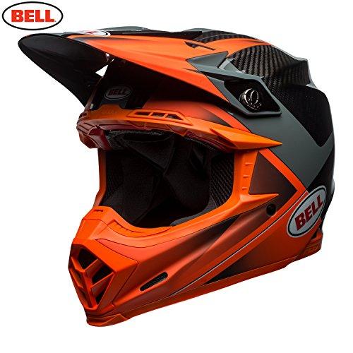 Bell Helmet Moto-9 Flex Hound, Orange/Charcoal, Größe - Helm Hound