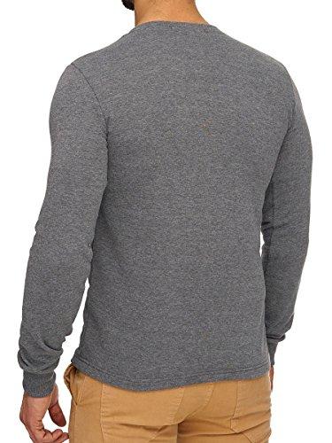 L.A.B 1928 Herren Sweatshirt Pullover Pulli Longsleeve Langarmshirt Shirt Anthrazit