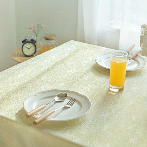 Imperméable nappe Nappe étanche Nappe à la maison Rectangulaire Salon simple Papier peint Jacquard (taille facultative) (beige) pour dîner ( taille : 140*140cm )