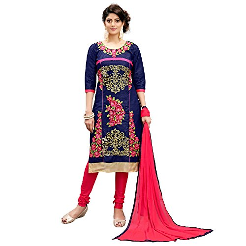 Siddeshwary Fab Women\'s Cotton Silk A-line Salwar Suit Dress Material
