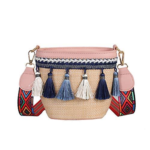 OIKAY Mode Damen Tasche Handtasche Schultertasche Umhängetasche Mode Neue Handtasche Frauen Umhängetasche Schultertasche Strand Elegant Tasche Mädchen 0509@031