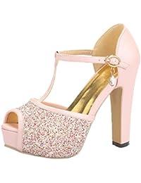 es 36 Zapatos Para Sandalias Fucsias Amazon Mujer 0T7w7