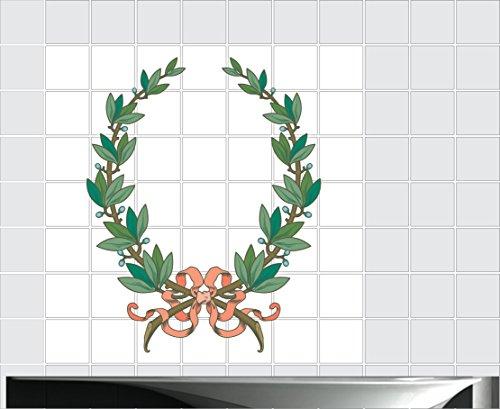 Fliesenaufkleber Fliesentattoos für Bad & Küche - Küchenfliesen 110x110 cm - Fließen Wunschgröße - MF148 - Weihnachten Schattierungen