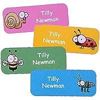 Namensaufkleber für Kinder (Insekten-Motive, 40 Stück)