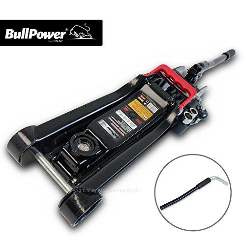 BullPower BP600K Wagenheber 2,25T Low Profile 80mm - 365mm mit LED für Racing-Sportwagen, Rennsport - 2250kg