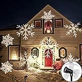 LED Projektionslampe, LED Projektor Schneeflocke Weihnachtsdeko im Garten, IP65 wasserdicht Gartenleuchte außen Gartenstrahler Weihnachten Landschaftslampe Spotlicht Dekoration für draussen