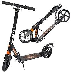Apollo XXL Wheel Scooter 200 mm - Spectre Pro Orange est Un Trotinette City Scooter de Luxe à Double Suspension, XXL City-Roller Pliable et réglable en Hauteur, Trottinette