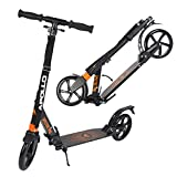 Apollo Big Wheel Scooter 200 mm - Spectre Pro Naranja es un City Scooter de Lujo con Suspensión Doble, City Roller XXL Plegable y Ajustable en Altura, Grande Kick+B3 Scooter para Adultos y Niños
