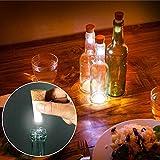 Danigrefinb Home decorativa lampada creativa LED champagne tappo bottiglia di vino tappo in sughero USB ricaricabile luce, Warm White, taglia unica