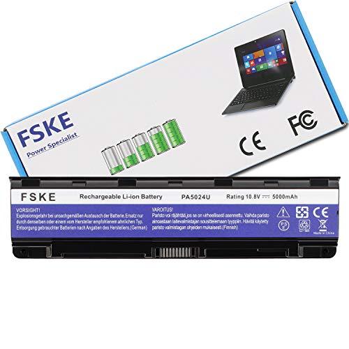 FSKE PA5024U-1BRS PA5026U-1BRS PABAS260 Akku für Toshiba Satellite L850 C870 C855 C850 C850D L855 L875 Notebook Battery, 10.8V 5000mAh 6-Zellen