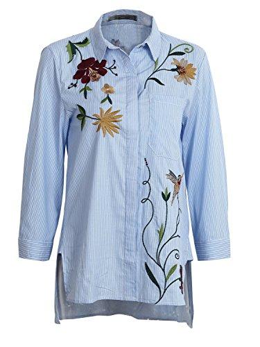 simplee-apparel-damen-baumwolle-bluse-retro-blumen-stickerei-langarm-bluse-3-4-arm-basic-blouse-shir
