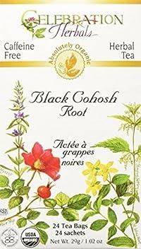 Celebration Herbals Black Cohosh Root Tea, Organic, 24 Teabag
