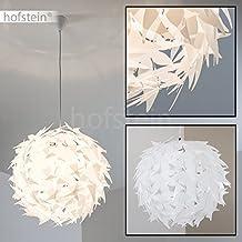 Extravagante Hängeleuchte In Weiß U2013 Designer Deckenspot Dokkas Aus Metall U2013  Wohnzimmer Deckenlampe Sehr Auffällig U2013