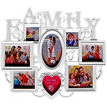 Reelva LOVE FAMILY ROSE Multi Aperture Photo Frame Collage Photo