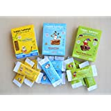 Happy Tummys Nutritious Snack Bars - Value Variety Pack - 3 Flavours (Pack of 15 Bars)