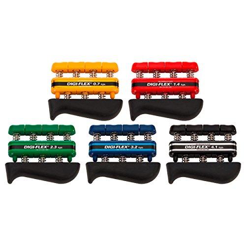 Digi-Flex Handtrainer-Set Fingertrainer Unterarmtrainer Fingerhantel, 5 Stärken - Digi-flex Handtrainer