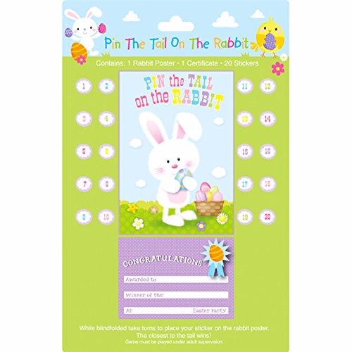 Eurowrap Kinder/Kids Pin der Schwanz auf der Hase Ostern Party Spiel (Auf Das Baby Schwanz Pin Der)