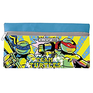 Tortugas Ninja–Estuche escolar escolar azul TMNT tortugas Ninja vuelta al cole 2015