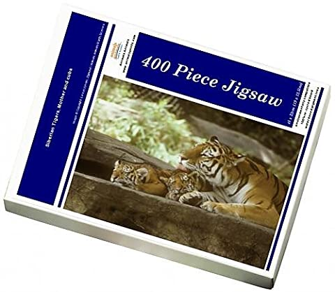 Photo Jigsaw Puzzle of Siberian Tigers, Mother and cubs