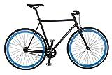 Rocasanto Bike Vélo fixie, Noir/bleu, 54