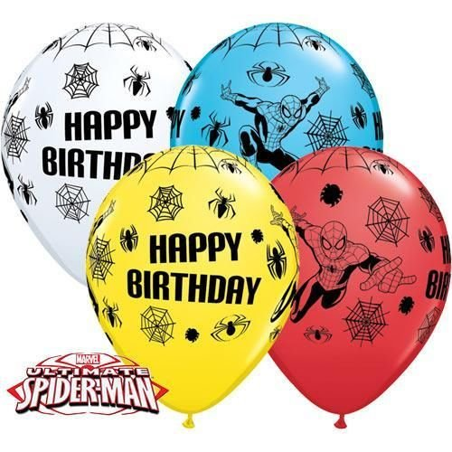 Marvels Ultimative Spiderman Alles Gute Zum Geburtstag 27.9cm Qualatex Latex Ballons x 10