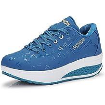 QZBAOSHU Mujer Adelgazar Zapatos Sneakers para Caminar Zapatillas Aptitud  Cuña Plataforma Zapatos cf39803f1e2e