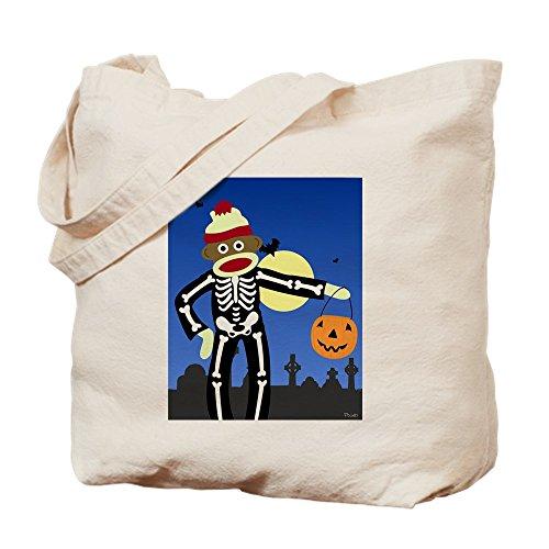 CafePress-Socke Affe Halloween Skelett-Tasche (Socke Affe Halloween)