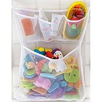 Youarebb Aufbewahrungsorganizer Rack mit Saugnapf Mesh-Aufbewahrungsbeutel für Badewanne Spielzeug