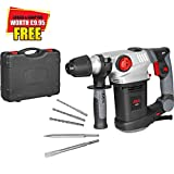 Elite Choice Skil Masters 1035AL SDS Plus Rotary Hammer Drill with 5 Drill Bits 720w 240v with Keyed Chuck & SDS Adaptor (1) - Min 3yr Warranty