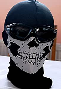 GEAR - BALACLAVA MASK GHOST SKULL - COD CALL OF DUTY GHOSTS MODERN WARFARE MW3 BLACK OPS BATTLEFIELD 3 / 4 XBOX ONE PS4 - AIRSOFT PAINTBALL BIKE SCOOTER OUTDOOR