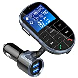 Bluetooth FM Transmitter, AceTend FM Transmitter KFZ Auto Radio Adapter Freisprecheinrichtung Car Kit Integriertem mit An / aus Schalter, A2DP-Funktion