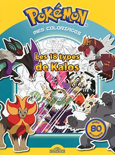 Pokemon - Mes coloriages - Les 18 types de Kalos