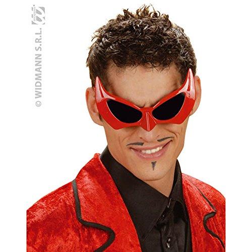 Brille 'Devil', Einheitsgröße Erwachsene (Diavolo Kostüm Halloween)