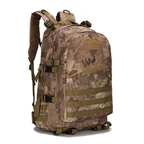 ZC&J Outdoors 36-55L Capacity Camouflage Männer Schulter Rucksack, Tactical Sport Trekking Bergsteigen Rucksack, wasserdicht Oxford Tuch verstellbare Bergsteigen Tasche A3