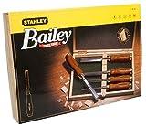 Stanley 2-16-217 Ciseau à bois avec manche bois Coffret de 5 pièces